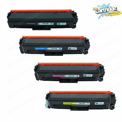 4PK CF410X CF411X CF412X CF413X Color Toner For HP Color LaserJet M377 M452 M477