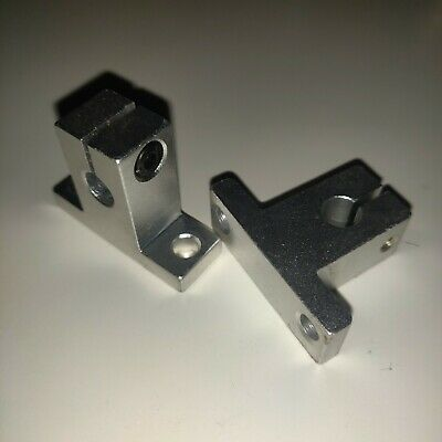 2pcs Sk8 8mm Linear Rail Shaft Support Clamping Guide For Xyz Table Cnc Router