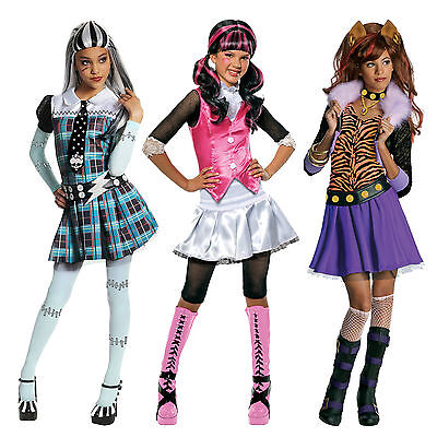 Child Toy Dolls Monster High Drakulaura Vampire Frankie Clawdeen Wolf Costume - Monster High Vampire Costume