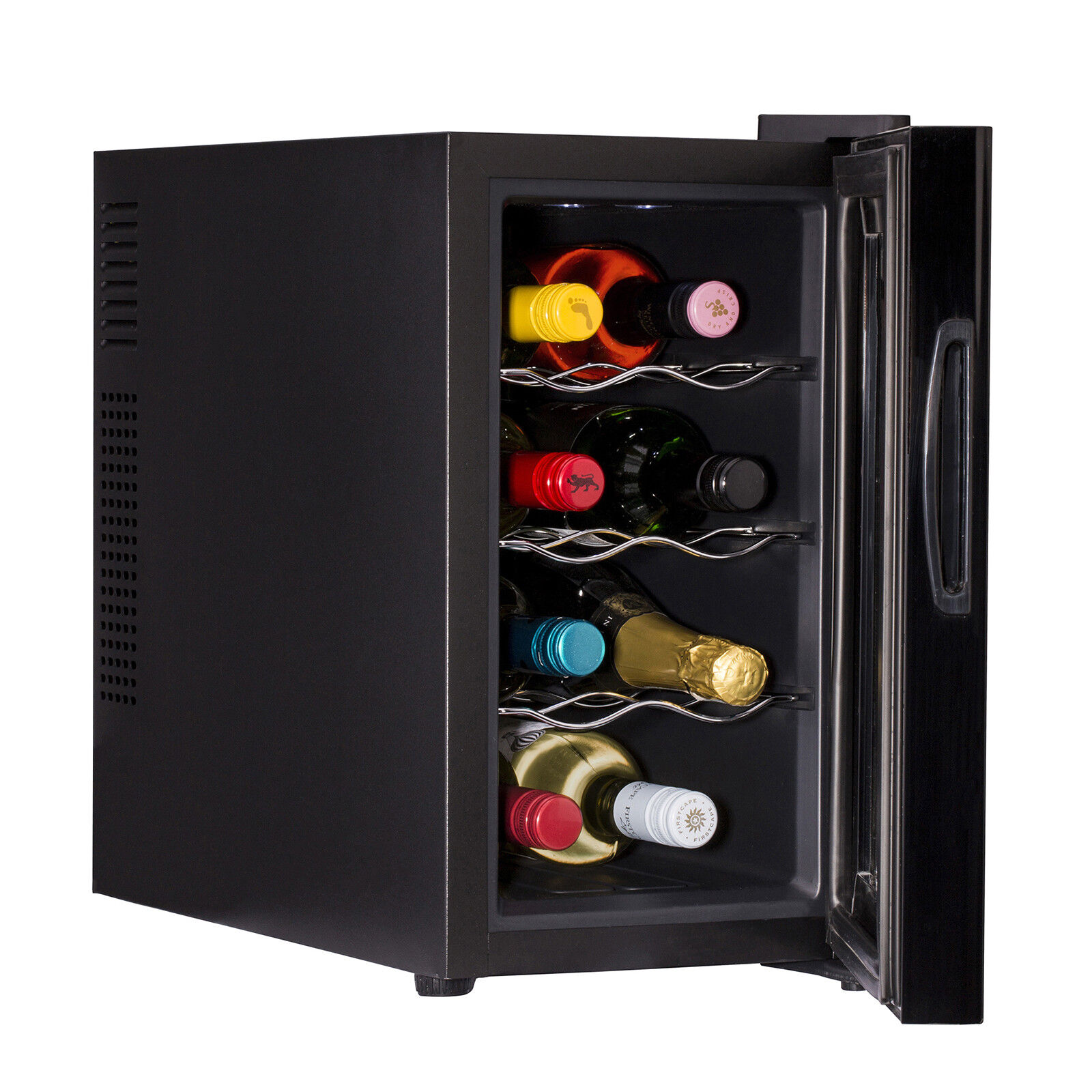 Wine Bottle Chiller & Bottle Drinks Thermoelectric Cooler Mini Bar Fridge Black