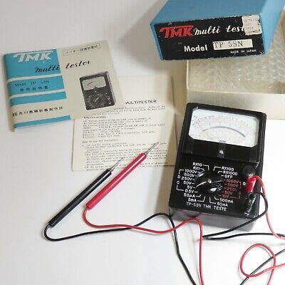 Vintage Tmk Multimeter Tester Tp 5sn Made In Japan