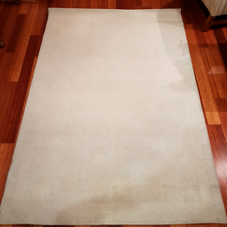 Wool cream floor rug