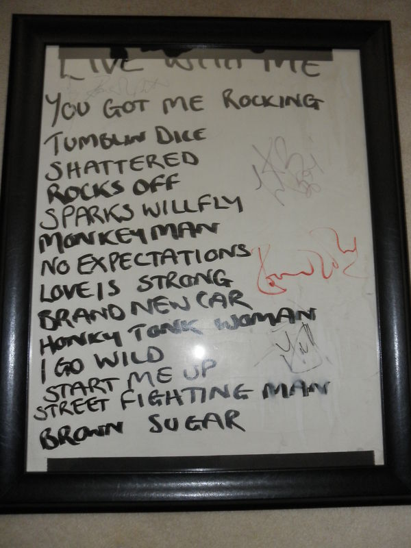 ROLLING STONES SETLIST SIGNED BY ALL 4 EXACT PROOF! MICK JAGGER KEITH RICHARARDS