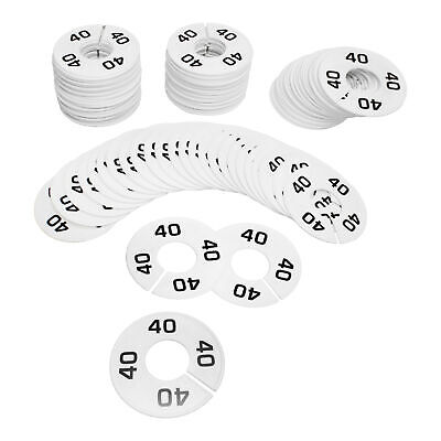 Hangers Retail Clothing Rack 3-12 Round Plastic Size 40 Dividers 10 Pcs White