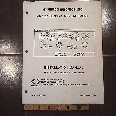 Narco Mk 12D Cessna Replacement Install manual