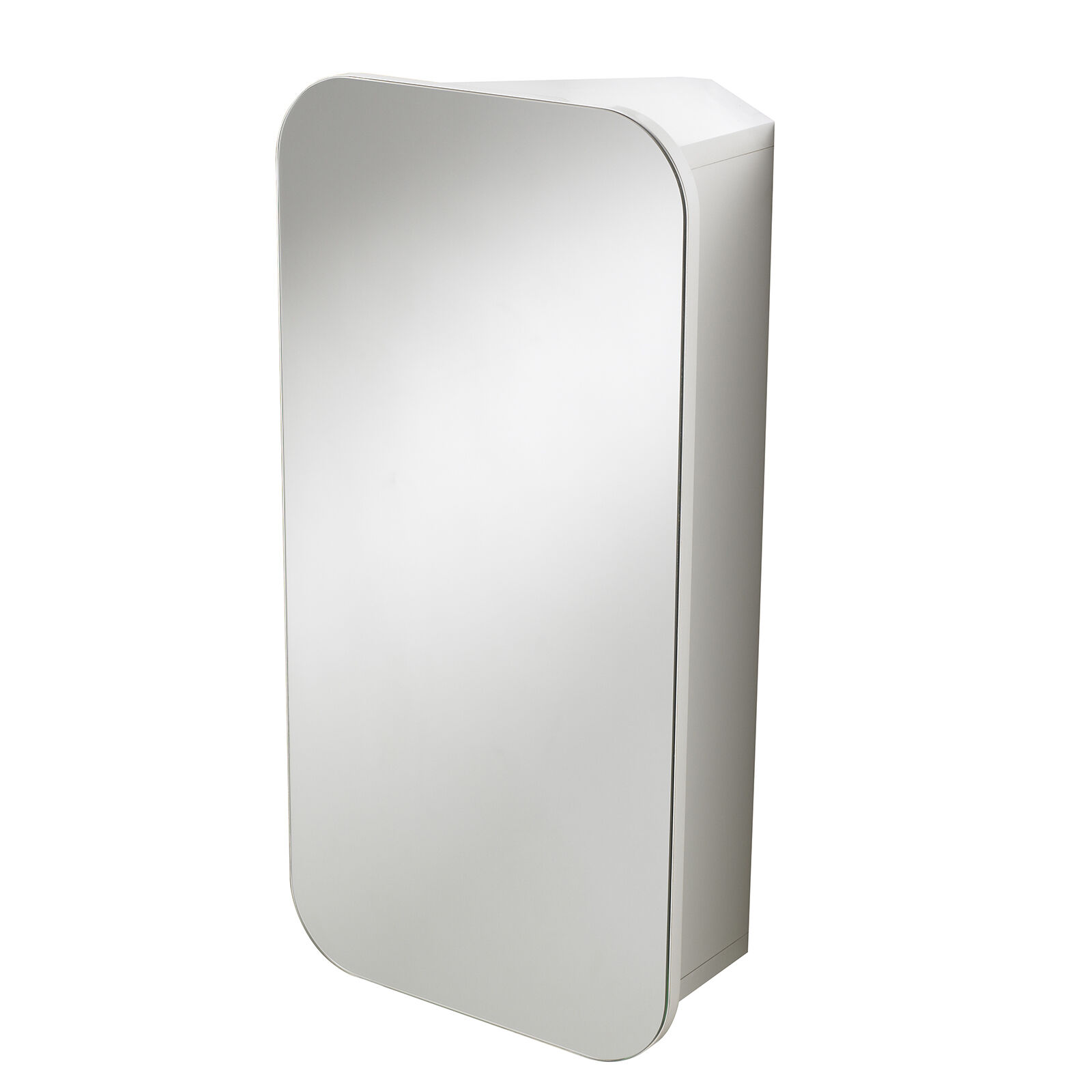 Wall Mounted White Carlton Single Door Bathroom Mirror Cabinet Ebay