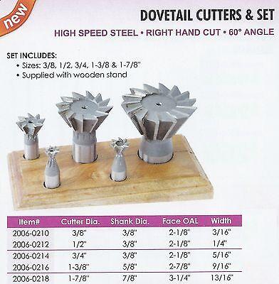 """TTC 3//4/"""" x 5//16/"""" Cobalt 60° Dovetail Cutter"""