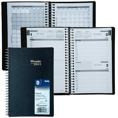 2021 Brownline C2504.81t Daily Planner Appointment Book 8 X 5