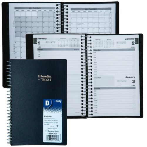 """2021 Brownline C2504.81T Daily Planner Appointment Book, 8 x 5"""""""