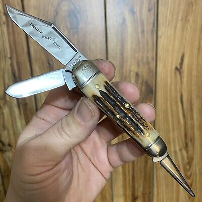 New Old Rare 1 of 34 57 Genuine Stag Wrangler Great Eastern Cutlery 571312WR GEC