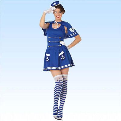 Kostüm Matrosin Größe M/L 3 teiliges Piratenkostüm Sexy - Blau Pirat Kostüme