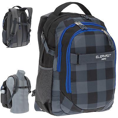 Rucksack ELEPHANT SIGNATURE Schulrucksack Bag 12609 HERO SCHWARZ
