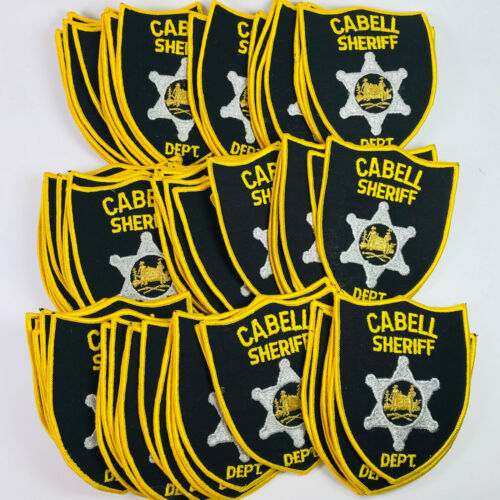 71 Cabell County Sheriff Department West Virginia Patches Dealer Lot