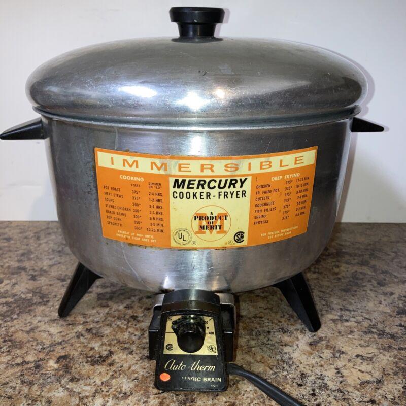 Vintage Merit Mercury Immersible Electric Cooker/Fryer