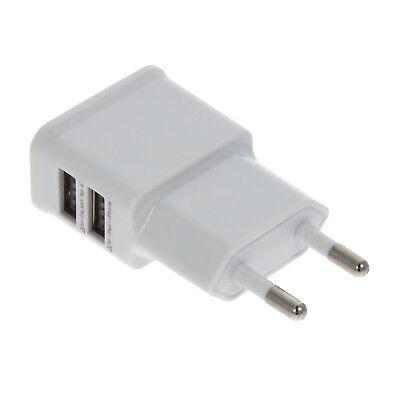 USB Ladegerät Ladeadapter Netzteil 2x USB Steckdose 2A Handy Smartphone Tablet