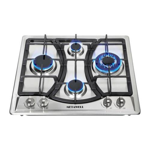 Silver 3/4/5/6 Stove NG/LPG Gas Steel Hobs