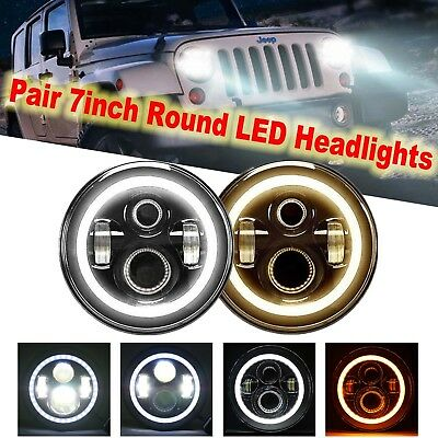 2  7 Round Led Headlights For Plymouth Pb250 300 Arrow Pickup Gran Fury Duster