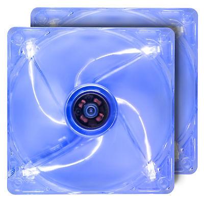 Rosewill 120mm Computer Case Fans (2-PACK), 4 Blue LED Lights, ROCF-13002 (Led Fans)