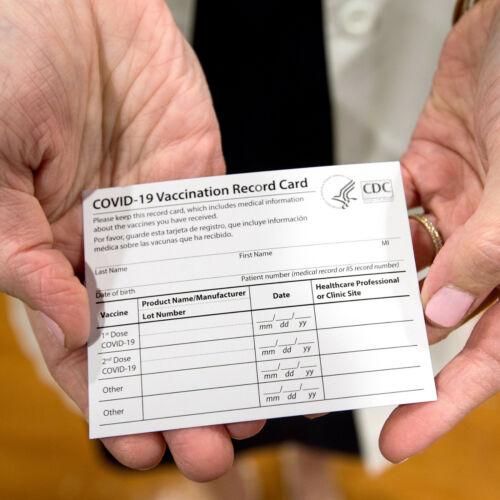 25 PCS Blank CDC Vaccination Card Holder ID