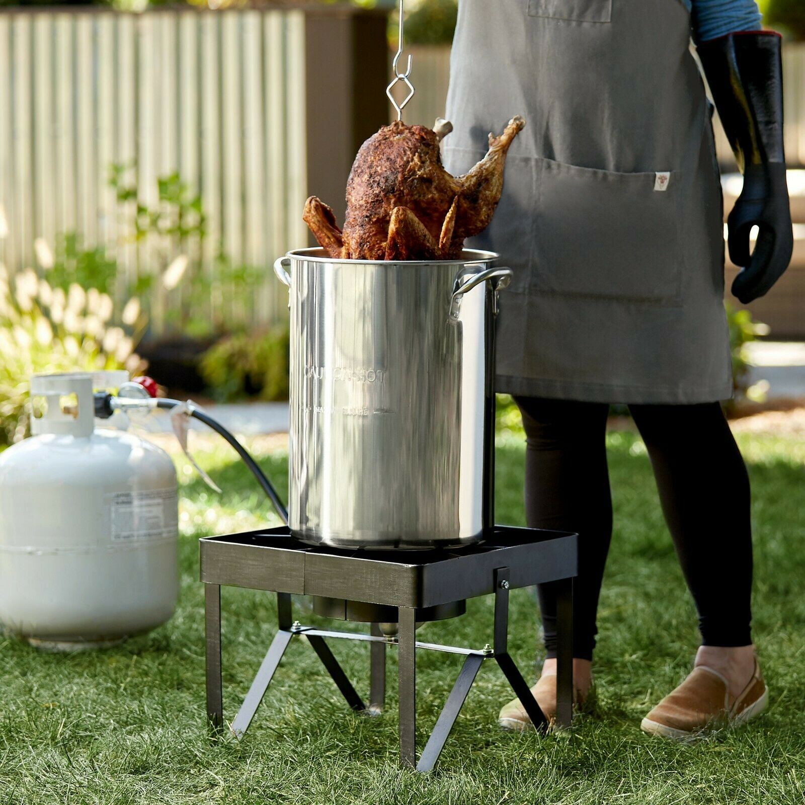 30 Qt. Turkey Fryer Kit Stainless Steel Stock Pot and Access