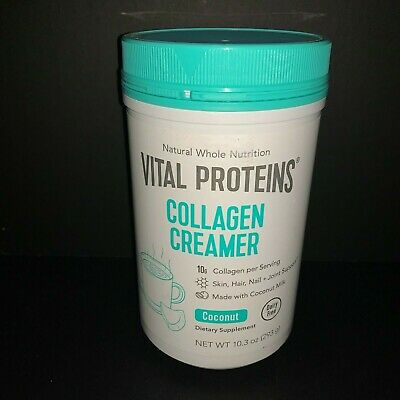 VITAL PROTEINS Collagen Creamer COCONUT 10.3 oz Dairy Free Exp 10/20 or