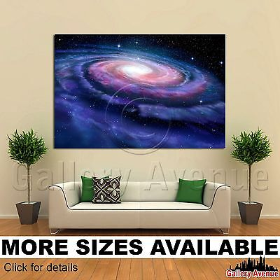 Wall Art Canvas Picture Print   Spiral Galaxy Milky Way 3 2