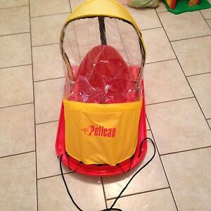 Infant winter sled with canopy
