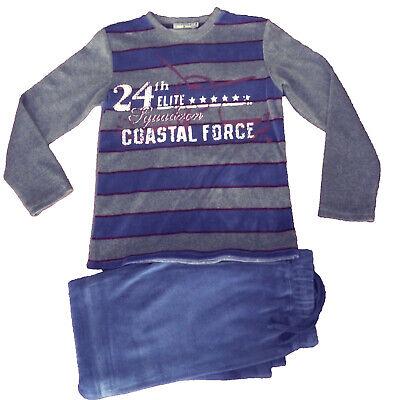 Pijama terciopelo niño de Losan, azul , gris , talla 8