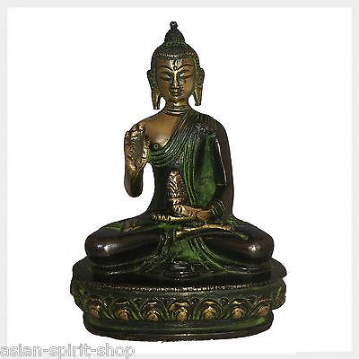 Lehrender Buddha ca.12 cm Messing Figur Nepal Tibet Indien Buddhismus Heilend
