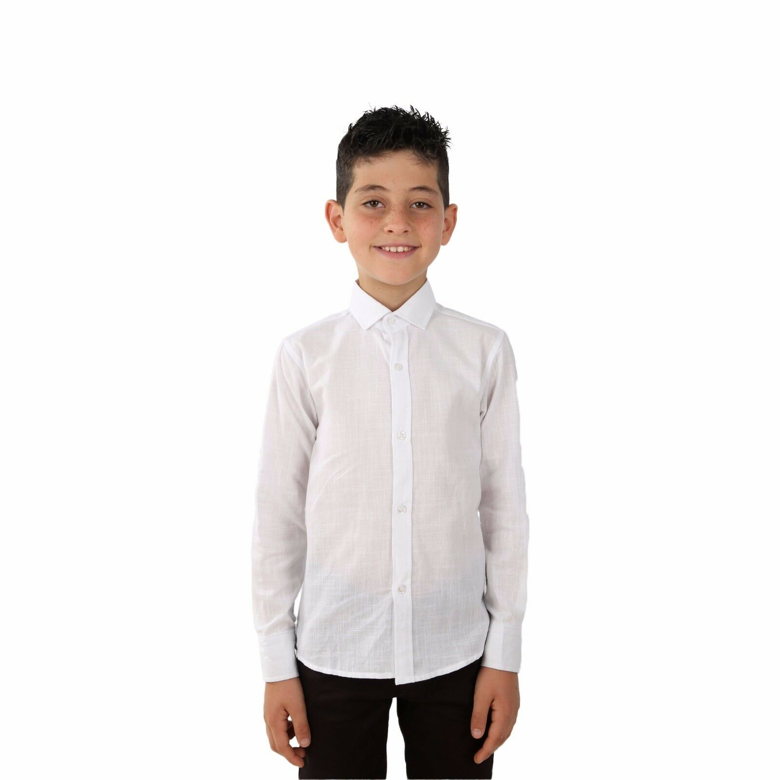 c41be871f46e Boys Linen White Shirts Kids Summer Long Sleeve Shirts Roll Up Sleeve Boy  Shirt