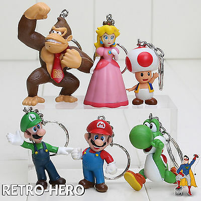 hlüsselanhänger Luigi Figur Donkey Kong Anhänger Yoshi Peach (Peach Mario Luigi)