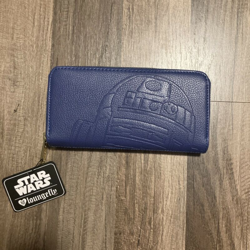 Loungefly R2-D2 Blue Wallet Star Wars New NWT C-3PO