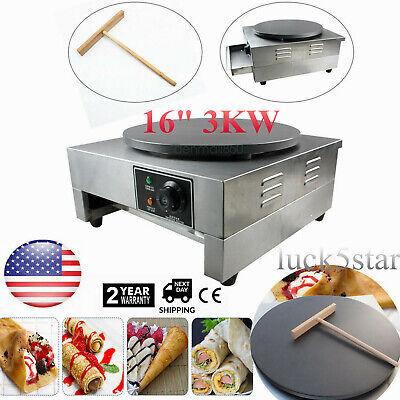 3kw Commercial Electric Crepe Maker Baking Pancake Machine Big Hotplate Nonstick