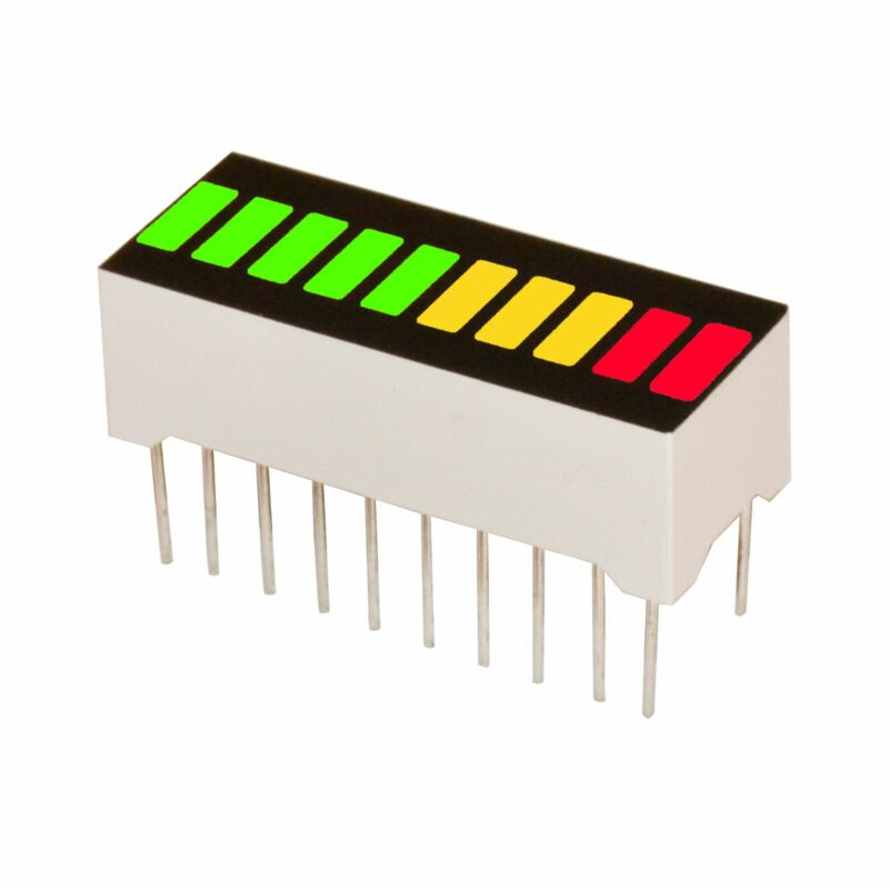 10 Segments Led Bar Graph MULTICOLOR 5G+3Y+2R (Arduino)