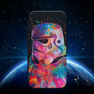 STAR WARS/STORMTROOPER/SPACE/FLIP WALLET PHONE CASE FOR IPHONE/SAMSUNG/HUAWEI