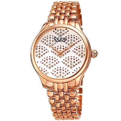 Women's Burgi BUR205RG Swarovski Crystal Rose Gold Tone Stainless Steel Watch