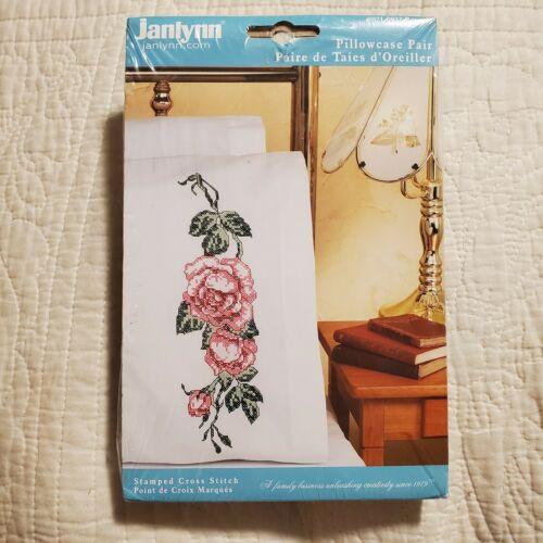 New 2004 Cross Stitch Kit Janlynn Roses #021-0932  Set of 2