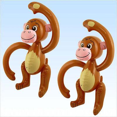 2 x Affe aufblasbar 58cm aufblasbare Tier Dekoration Partydeko Affen Tierdeko