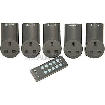 Remote Control Sockets - Wireless Switch Plug Adaptors - 5 Pack (2017 Model)
