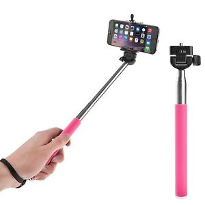 pink extendable handheld selfie stick monopod iphone 4s 5s 6 6 plus samsung s6 ebay. Black Bedroom Furniture Sets. Home Design Ideas