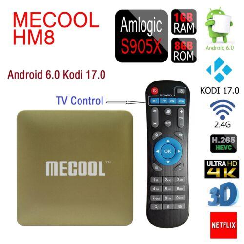 MECOOL HM8 Smart TV Box 4K HDMI Android 6.0 S905X Quad Core 1G+8G WIFI