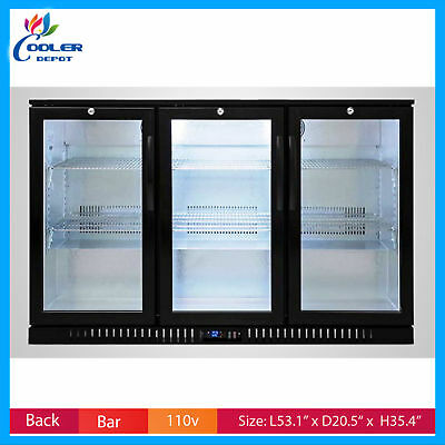 Back Bar Beer Cooler Bb3 Glass Door Commercial Refrigerator Nsf Cooler Depot New