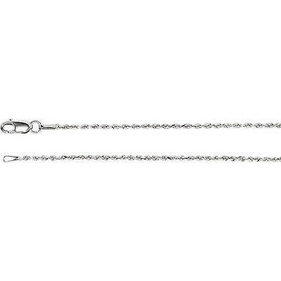 Diamond Cut Rope Neck Chain (925 Sterling Silver 1.3mm Diamond Cut Rope 20