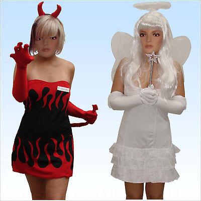 Kostüm Engel und Teufelin Gr. 38-40 sexy 9 teiliges Wendekostüm 2 Kostüme in 1 (2 Kostüme In 1)