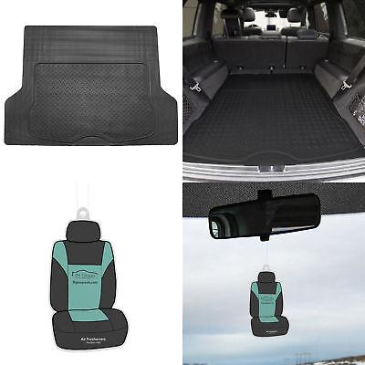 Black Trunk Cargo Mat Liner For Car SUV Van Rubber All Weather w/ (Black Trunk Mat)