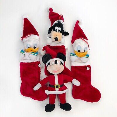VTG Disney Plush Goofy Donald Duck Christmas Stocking Mickey Mouse Christmas Lot