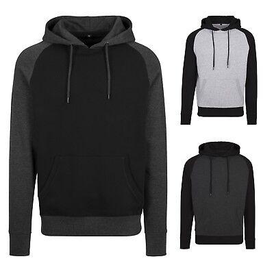Build Your Brand - Raglan Hoodie - Herren Baseball Hooded Sweatshirt - Raglan Hoodie Sweatshirt