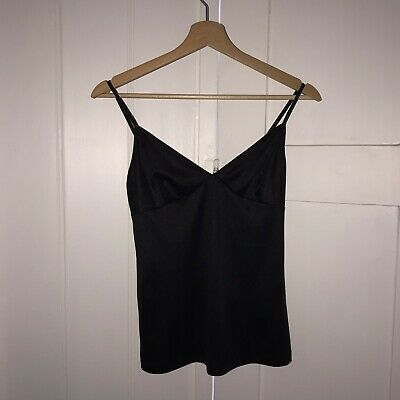 JOHN GALLIANO Black Pure SILK Camisole Vest UK 6, iT 38 Unworn New No Tags