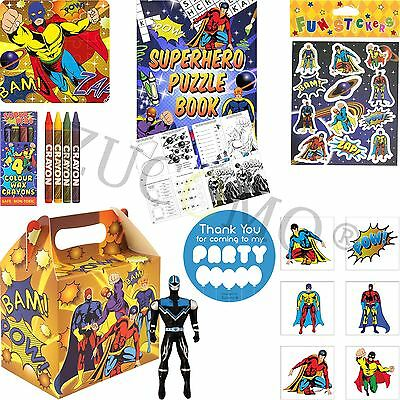 Boys Superhero Party Gift Bags For Children Party Loot Goody Bag Fillers Favours - Superhero Goodie Bags