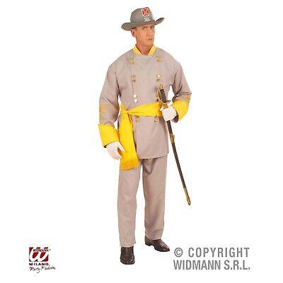 Südstaaten Uniform m Hut Soldat General Kostüm 46-56 Karneval Fasching ()